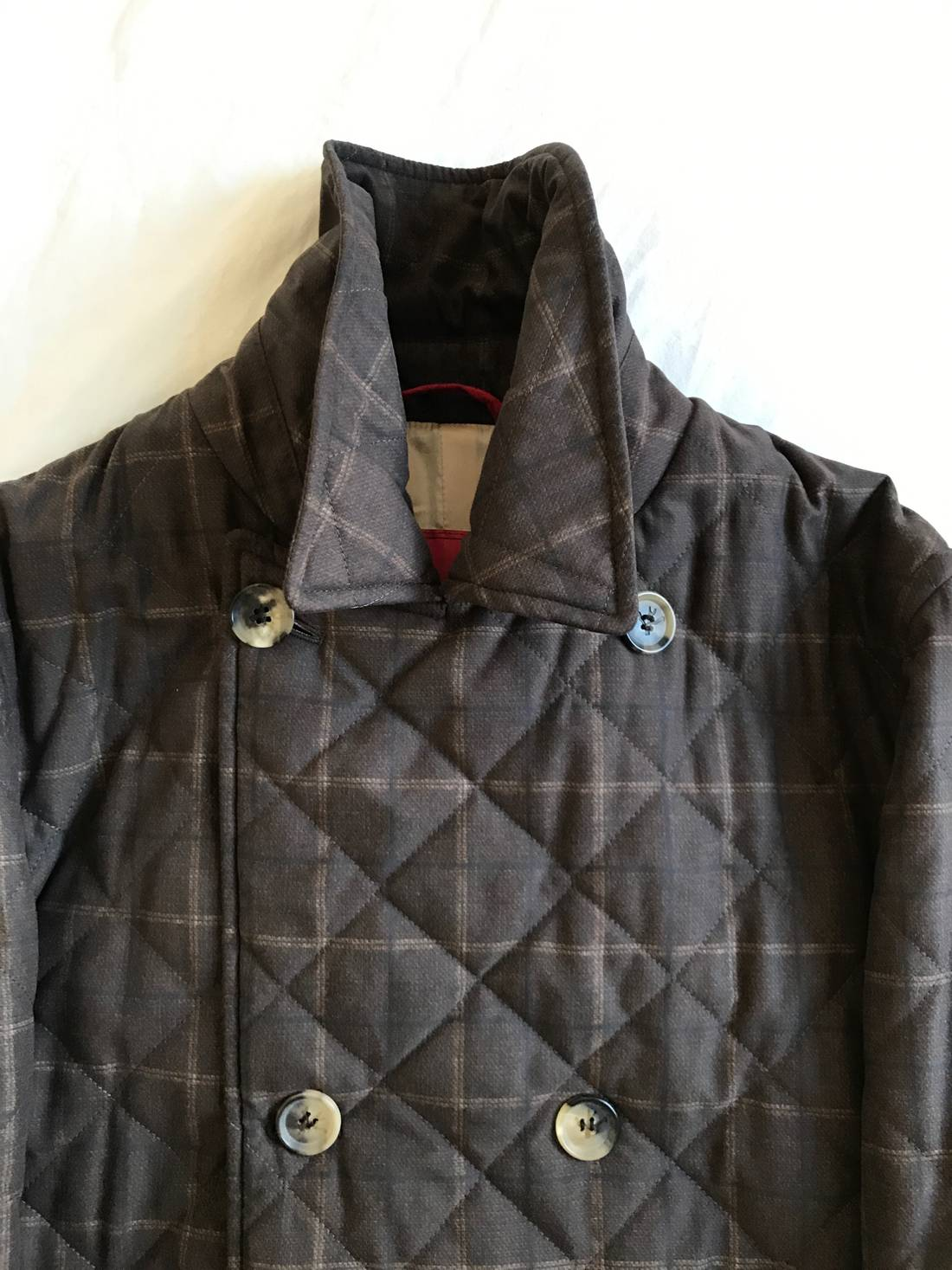 Isaia ISAIA Quilted Peacoat 40R Size m - Heavy Coats for Sale ... : quilted pea coat - Adamdwight.com