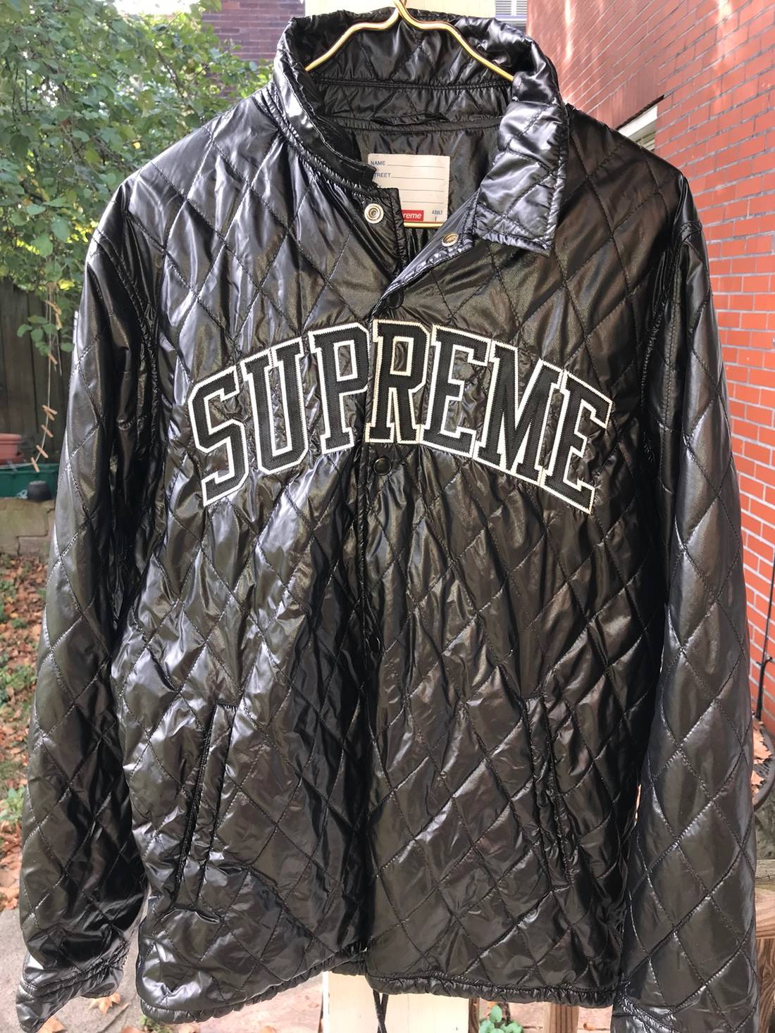 Supreme Supreme Quilted Coaches Jacket Size L Light Jackets For