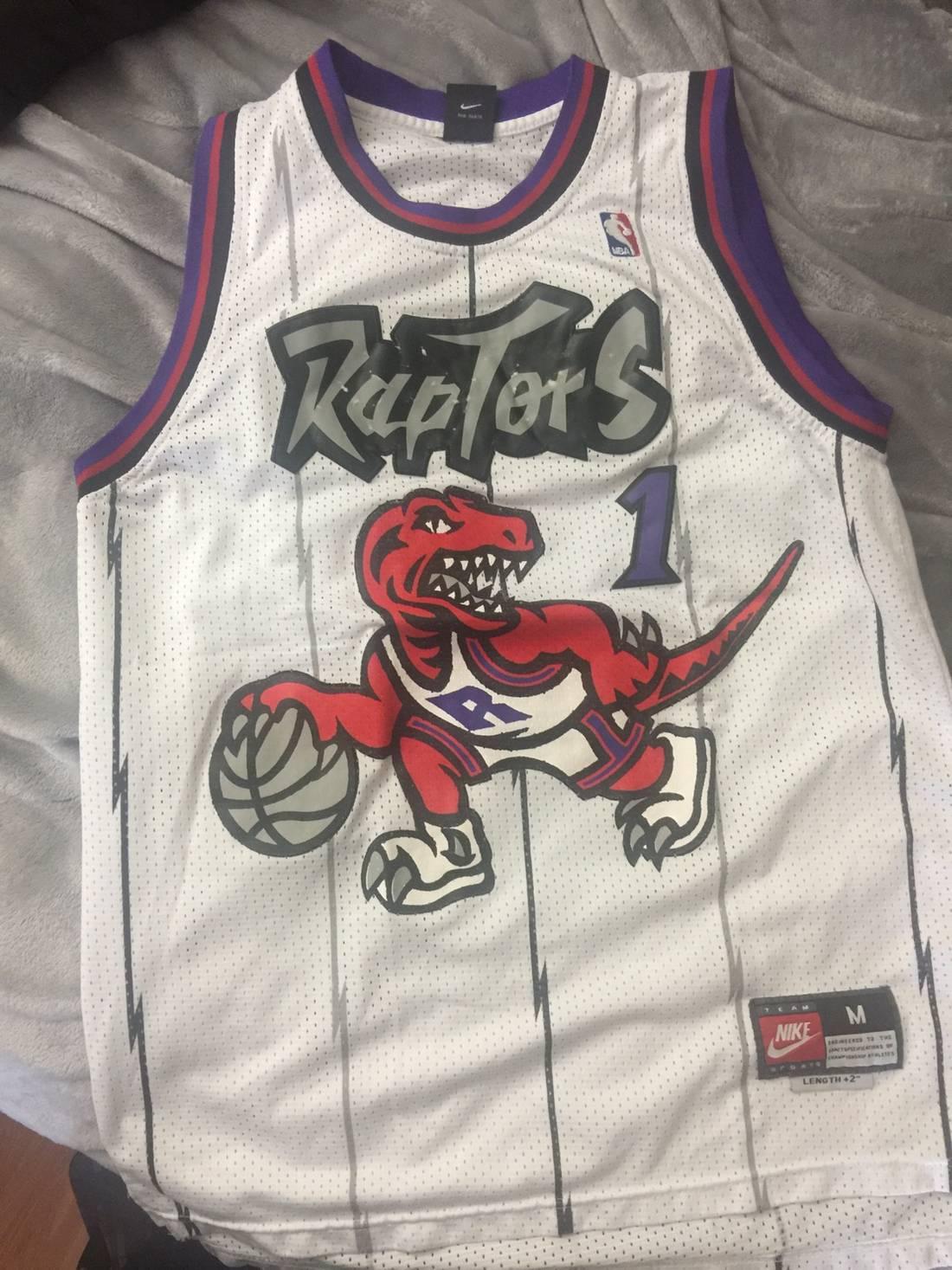 Nike NWT Tracy McGrady Toronto Raptors 1 Swingman Jersey Size US L EU Nike Tracy  McGrady Toronto Raptors Throwback Jersey Size US M EU 48-50 . dab5c0ad3