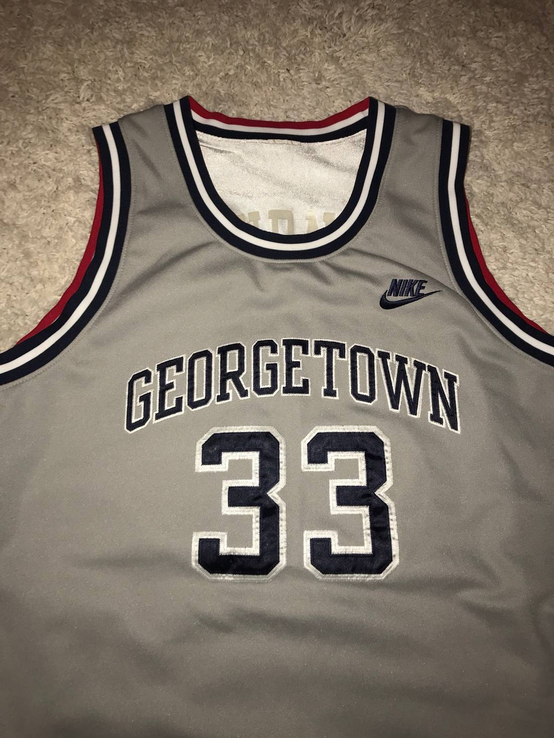 489bff1f6cb ... coupon nike vintage 1992 reversible alonzo mourning georgetown usa  olympics jersey adult large size us l
