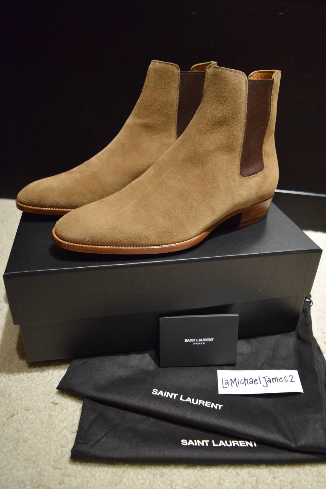 6032bffec06 ... store yves saint laurent wyatt 30 chelsea boots in new sigaro size us 9  eu 42