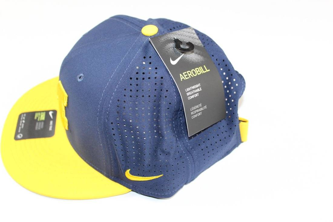 official photos a52ea 6d7d6 ... new zealand nike new nike michigan wolverines football vapor dri fit  vented snapback hat blue size