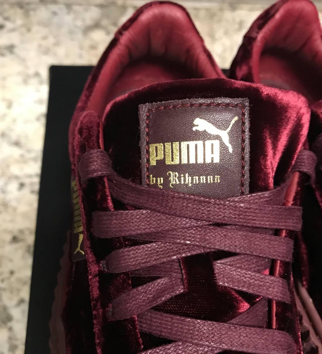Puma X Rihanna Fenty Creepers Size 6 Low Top Maroon Us Eu 39 1