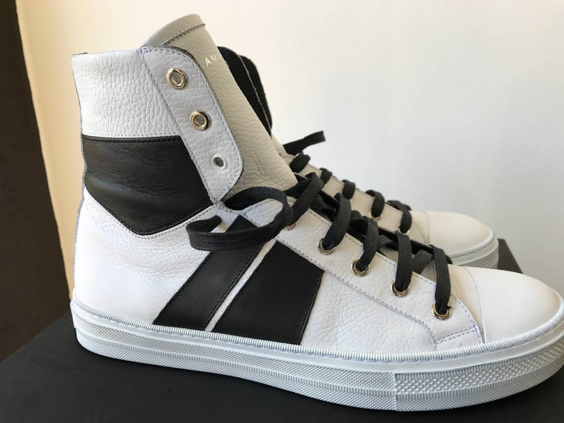 Black and White Sunset High-Top Sneakers Amiri