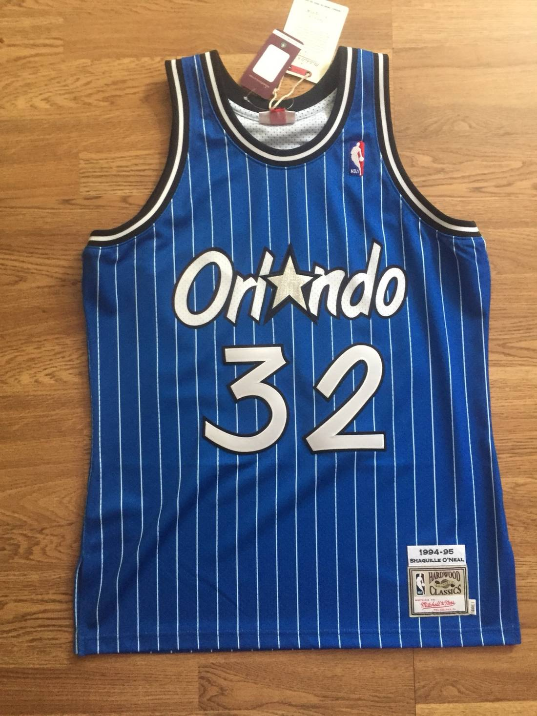 d450666b80bec ... canada mitchell ness shaquille oneal blue orlando magic authentic jersey  size us l 4e54b eb2d4