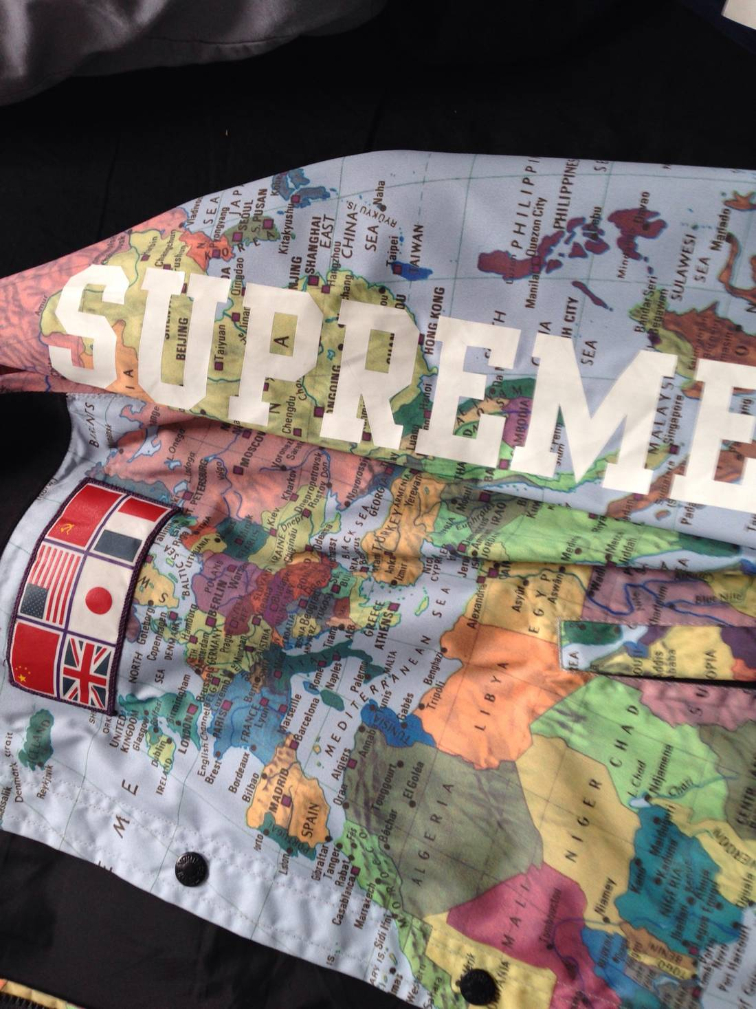 Supreme supreme x northface map jacket size l light jackets for supreme supreme x northface map jacket size us l eu 52 54 3 gumiabroncs Choice Image