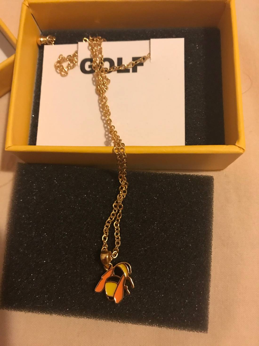 Golf wang bee necklace size one size jewelry watches for sale golf wang bee necklace size one size 1 aloadofball Image collections