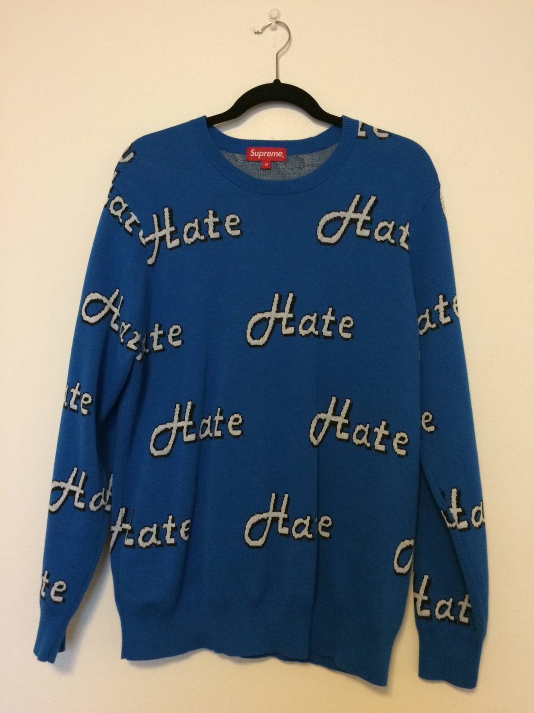 Supreme Supreme Hate Sweater Size m - Sweaters & Knitwear for Sale ...