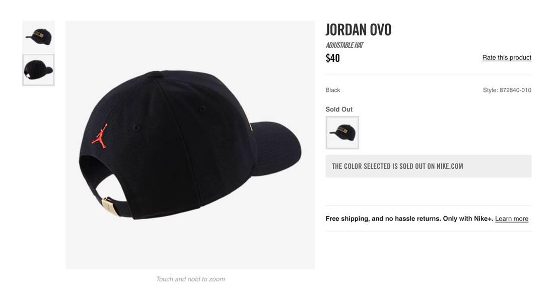 3d66115af96 ... amazon jordan brand jordan ovo adjustable hat size one size 1 154a3  fb034