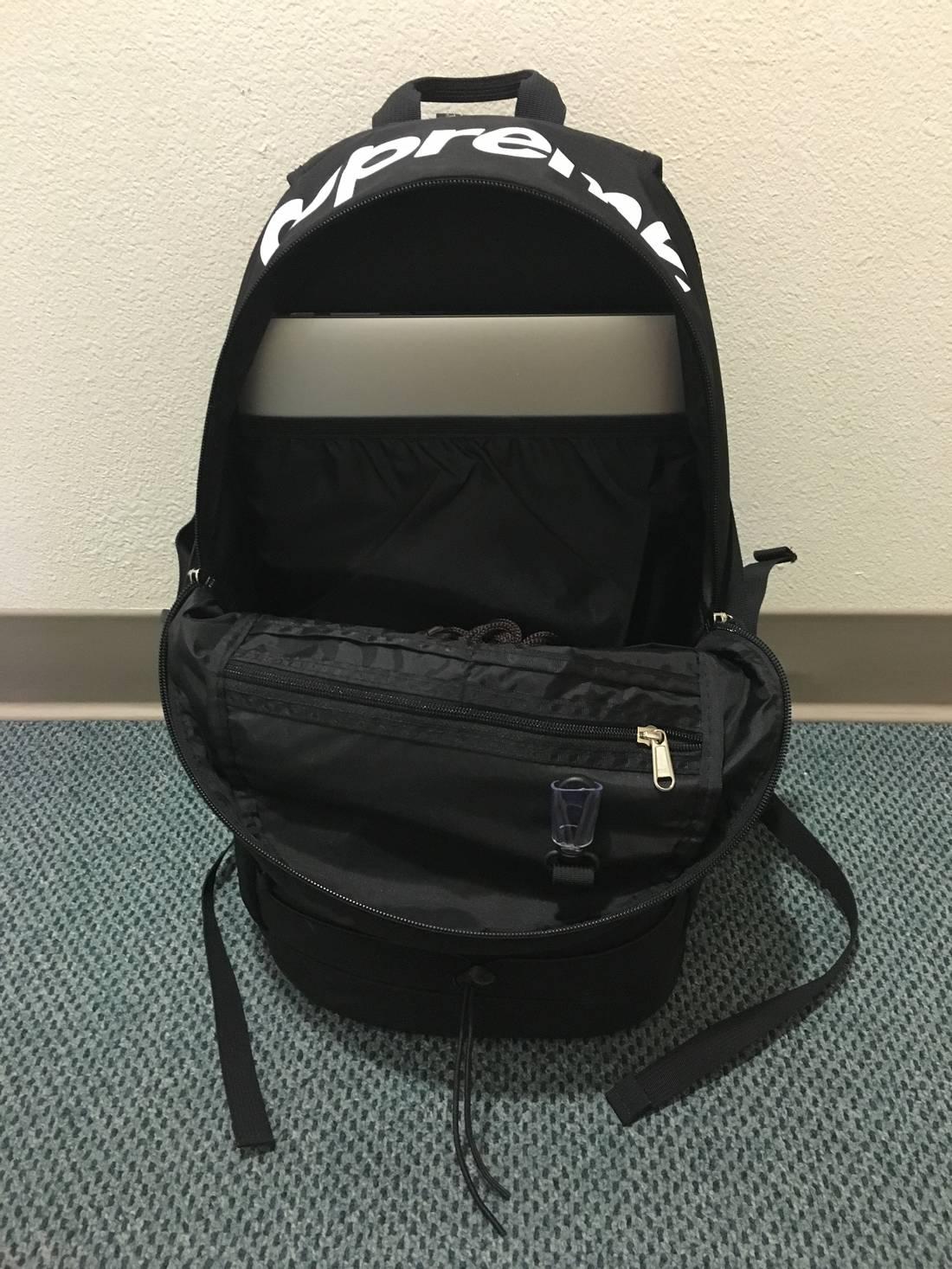 buy online 95023 0af14 Supreme Supreme Backpack Black SS16 210 Denier Cordura Box Logo Size ONE  SIZE ...