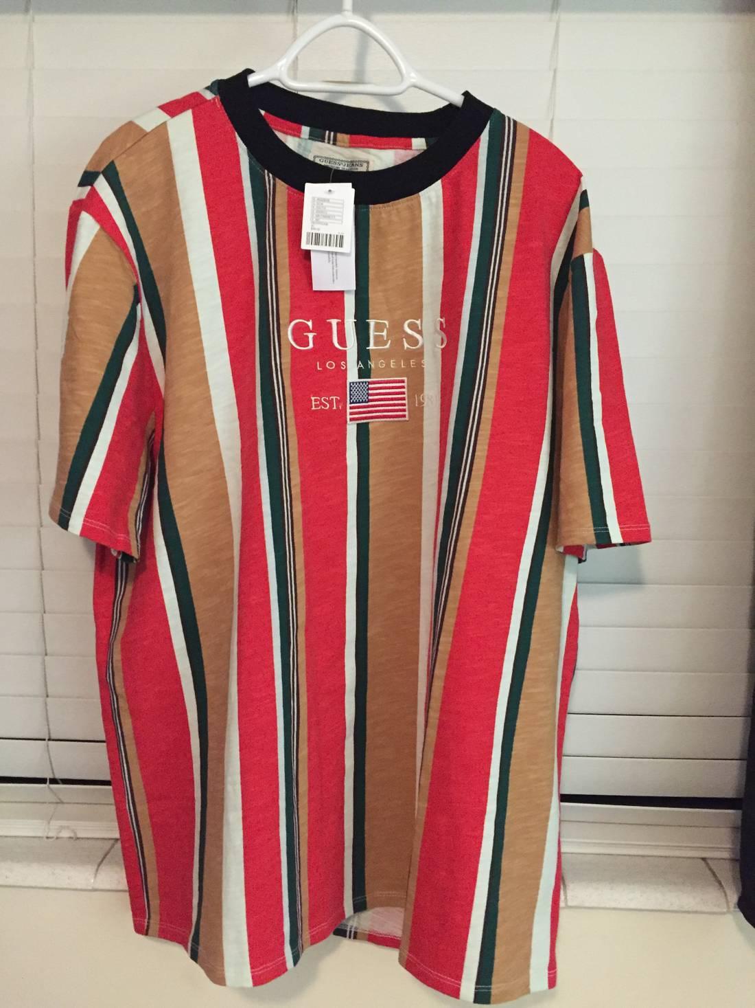 de7be12da833 Guess Jeans Usa 1981 Capsule Striped T Shirt Asap Vintage Vertical