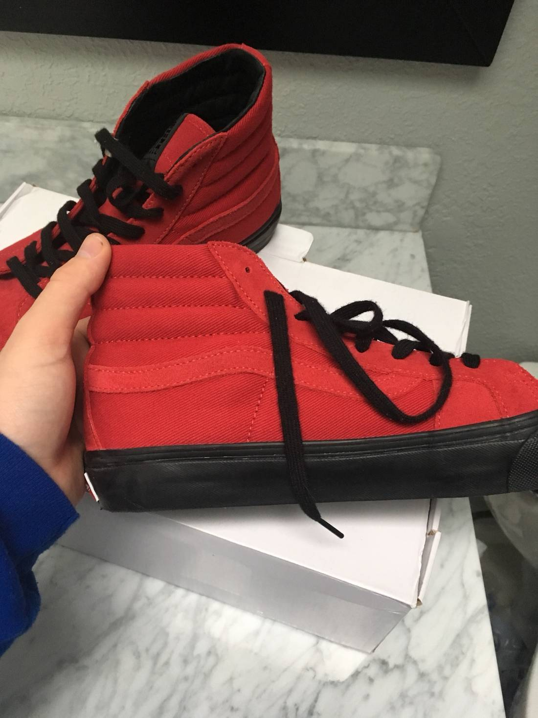 Red Alyx Edition OG Style 138 LX High-Top Sneakers Vans
