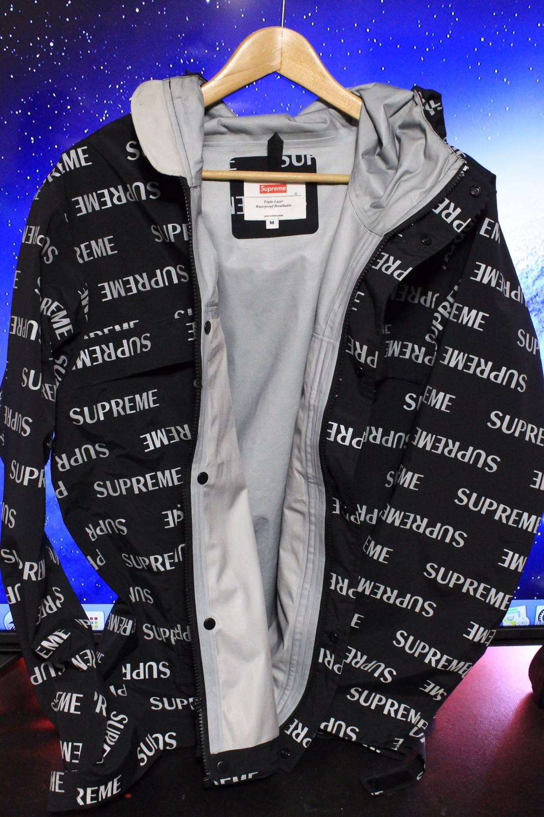 supreme supreme 3m reflective repeat taped seam jacket size m