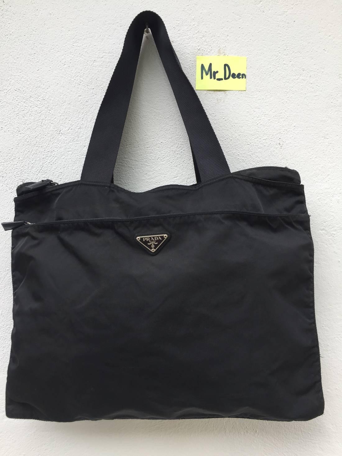 5faefdfb79b1 ... switzerland prada authentic prada tote bag nylon size one size 6f17a  34a78