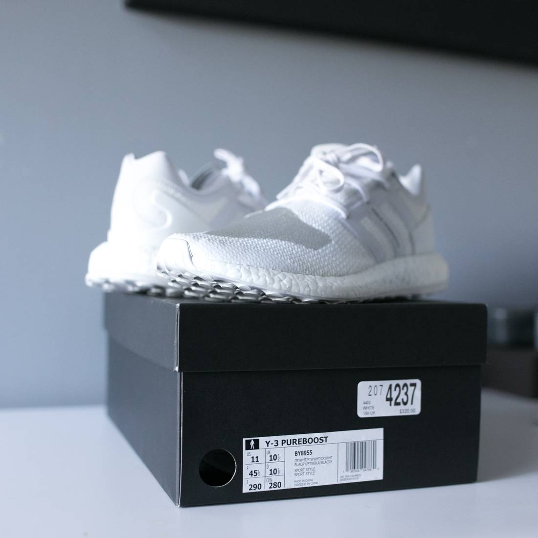489d2a593 ... new zealand y 3 brand new y 3 x adidas pureboost snow white triple white  size