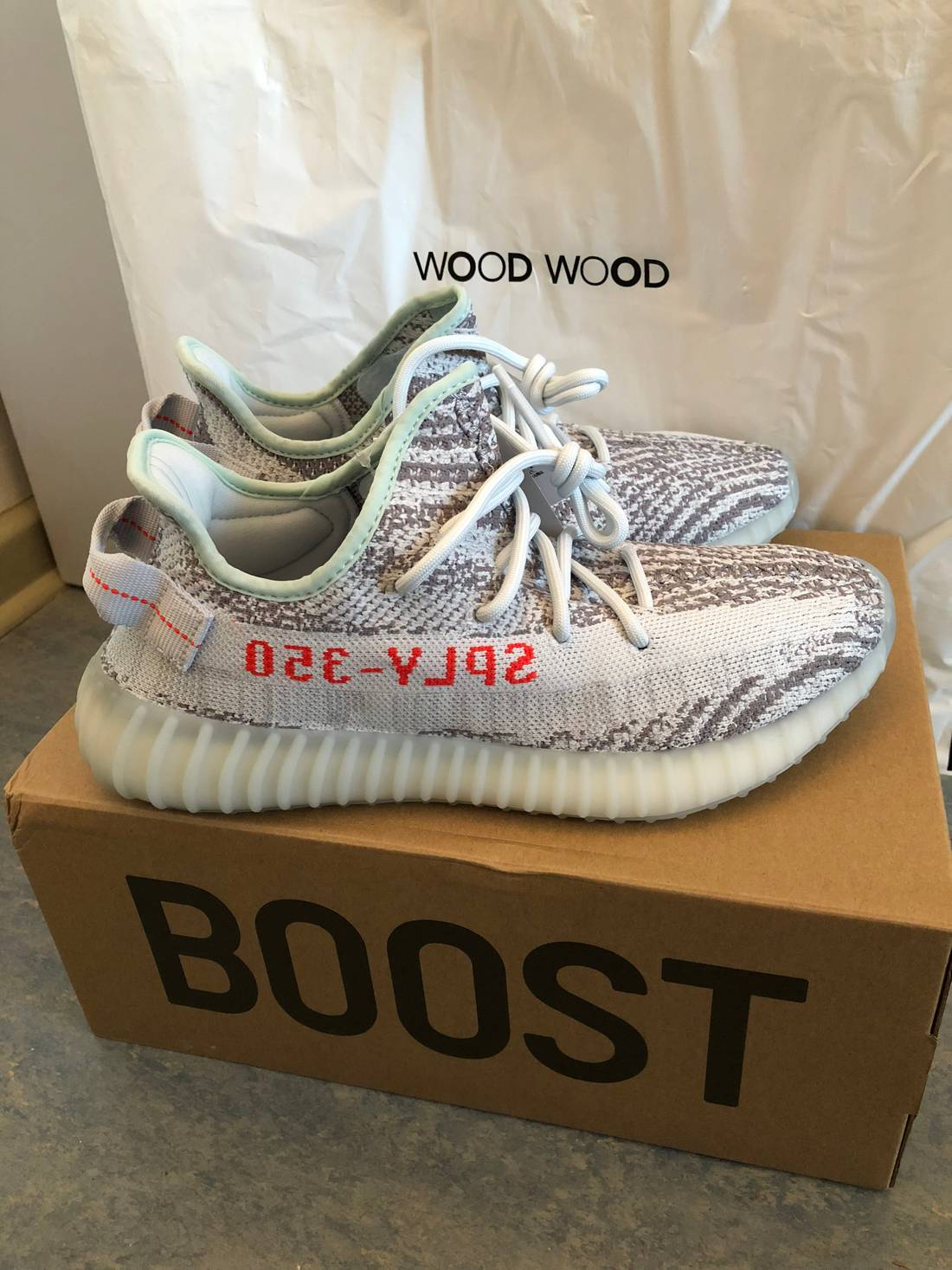 Adidas Kanye West Yeezy Boost 350 V2 Blue Tint Size 8 - Low-Top ...