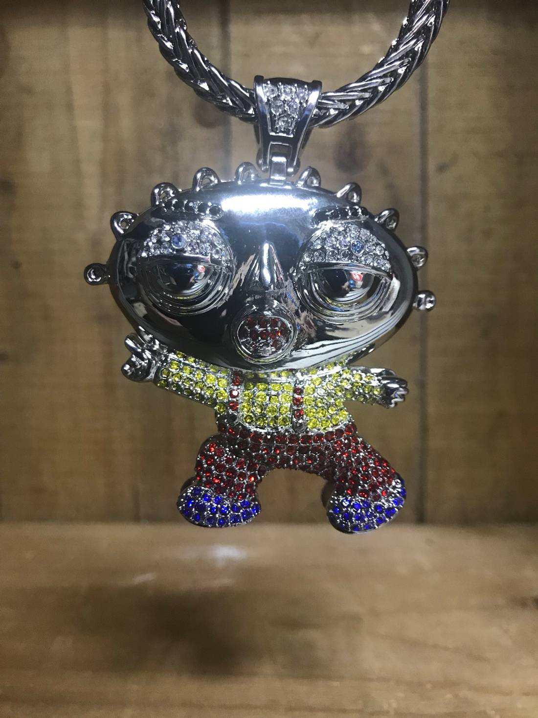 Other stewie xl rapper pendant silver wfree chain size one size other stewie xl rapper pendant silver wfree chain size one size aloadofball Choice Image