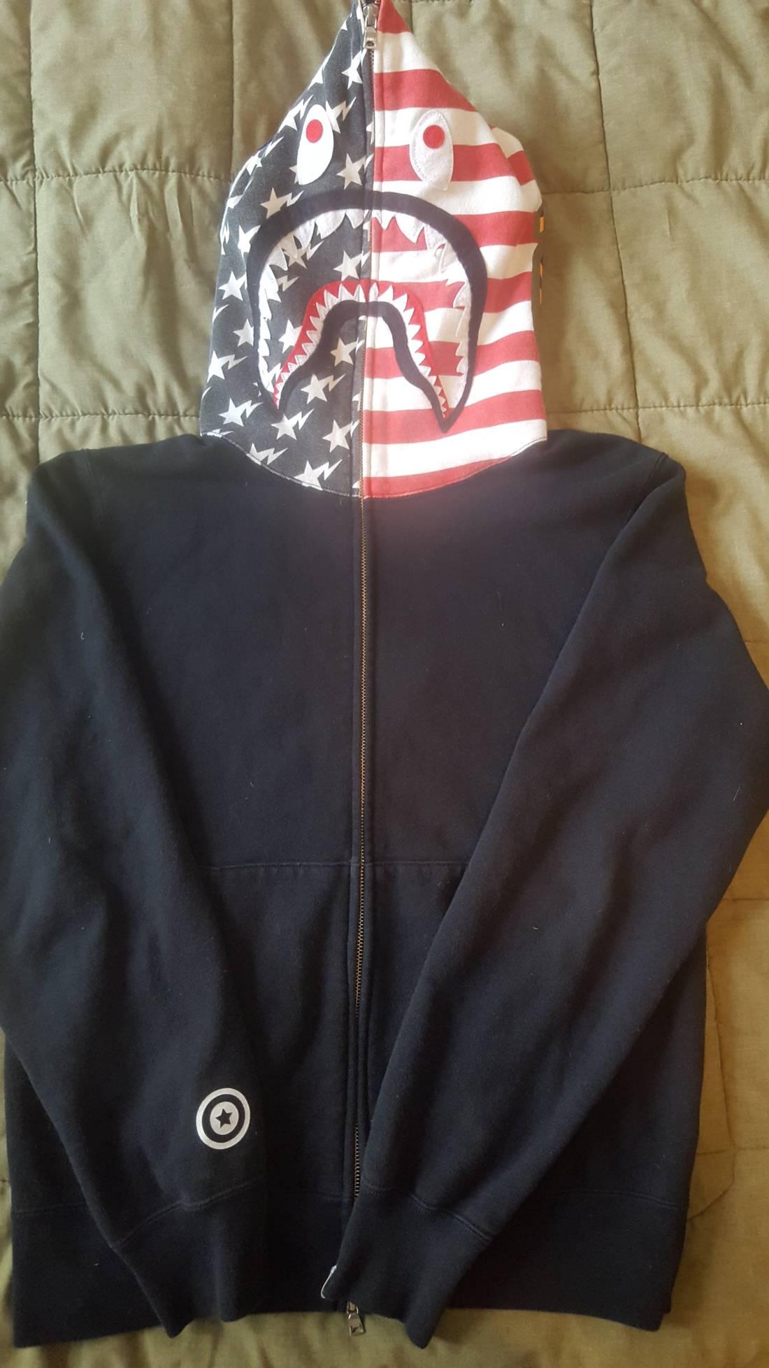 Bape Bape American Flag Shark Hoosize Us L Eu