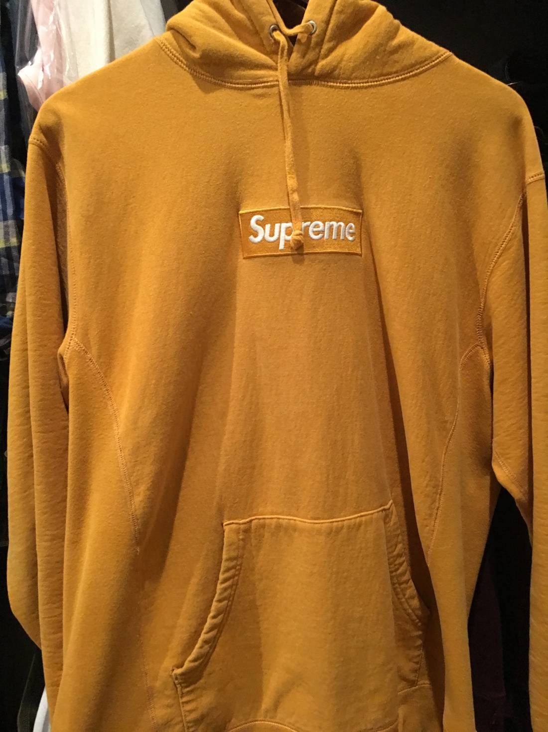 de3f548f2c81 Supreme Box Logo Hoodie (Yellow) Size US XL EU 56 4 .
