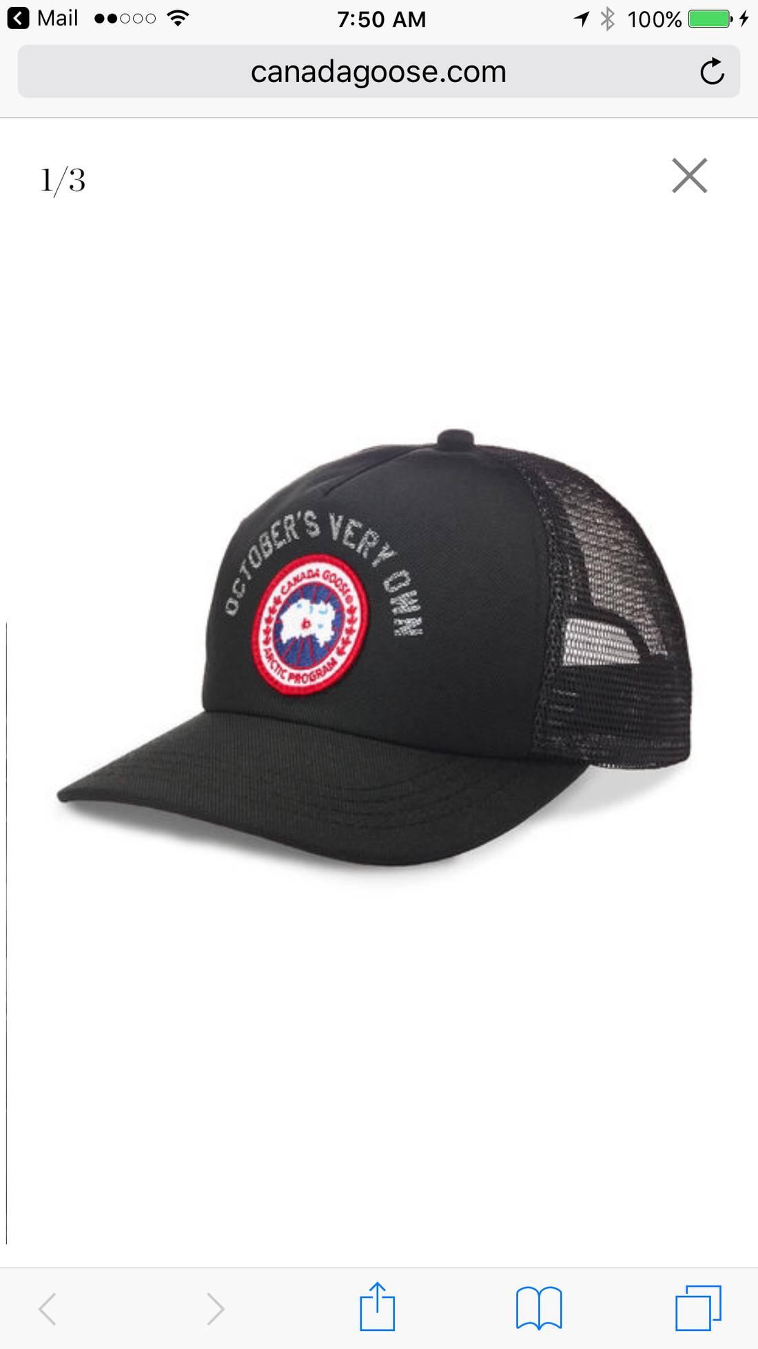 Canada Goose Mens Logo Baseball Cap a0a230a95180