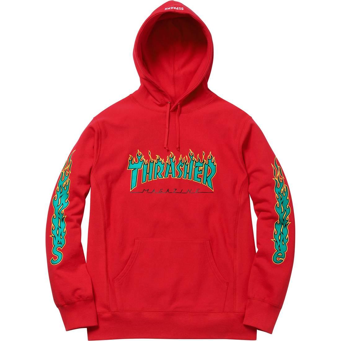 Supreme Supreme/Thrasher® Hoodie - Red Size m - Sweatshirts ...