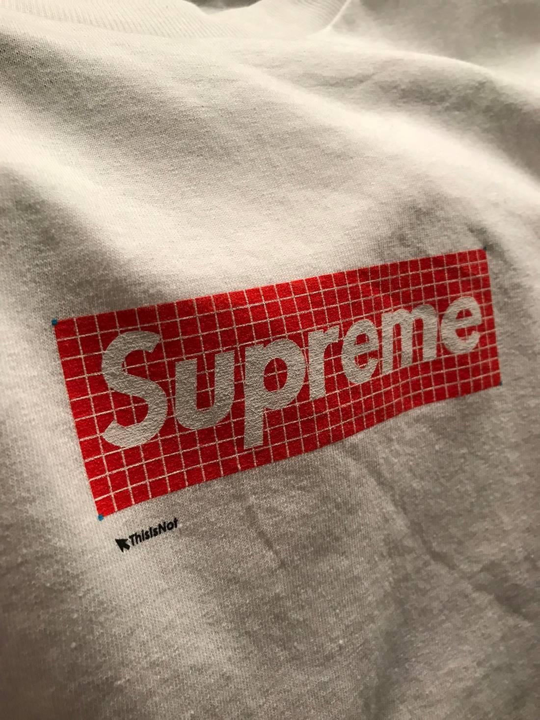 Fresh Custom Supreme grid box logo Size m - Short Sleeve T-Shirts for  VP29