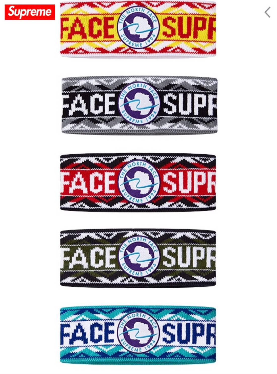 Supreme Supreme X The North Face Headband Size One Size
