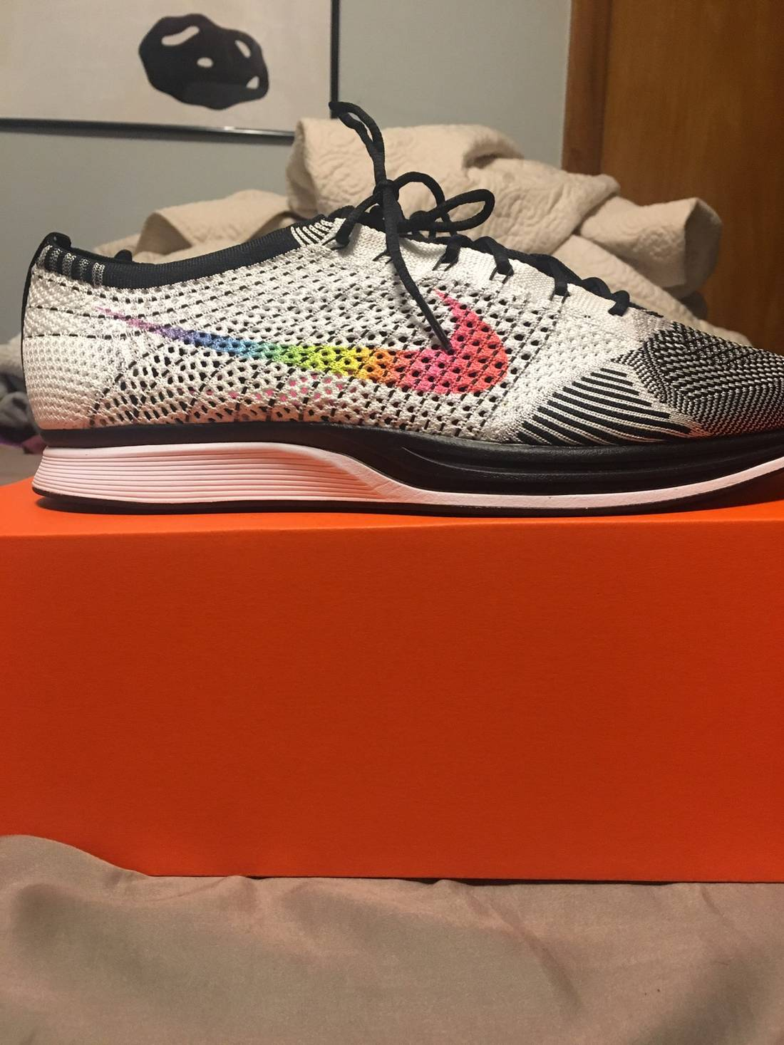 nike flyknit racer be true size us 12  eu 45 2