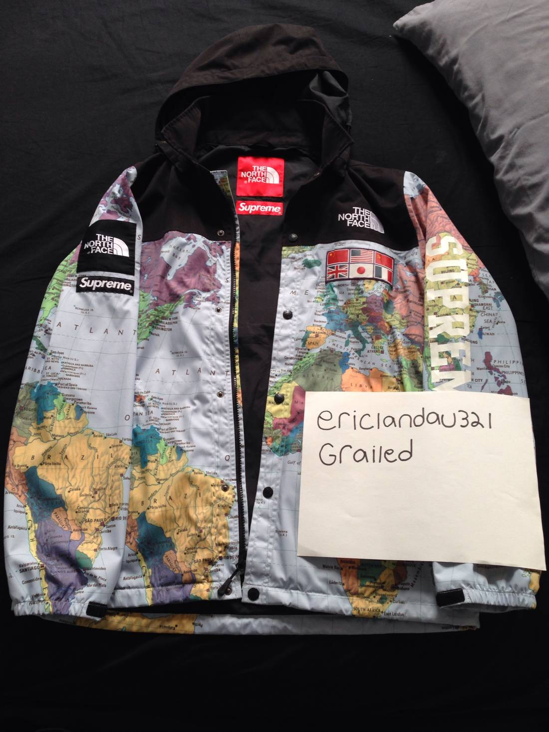 supreme supreme x northface map jacket size l light jackets for