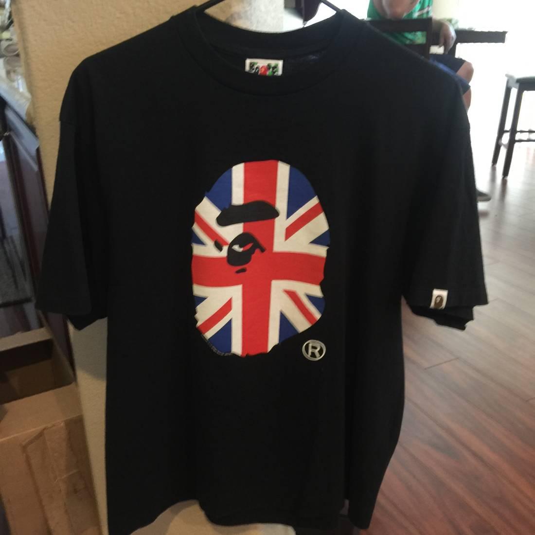 Bape Bape Uk Flag T Shirt Size Us L Eu