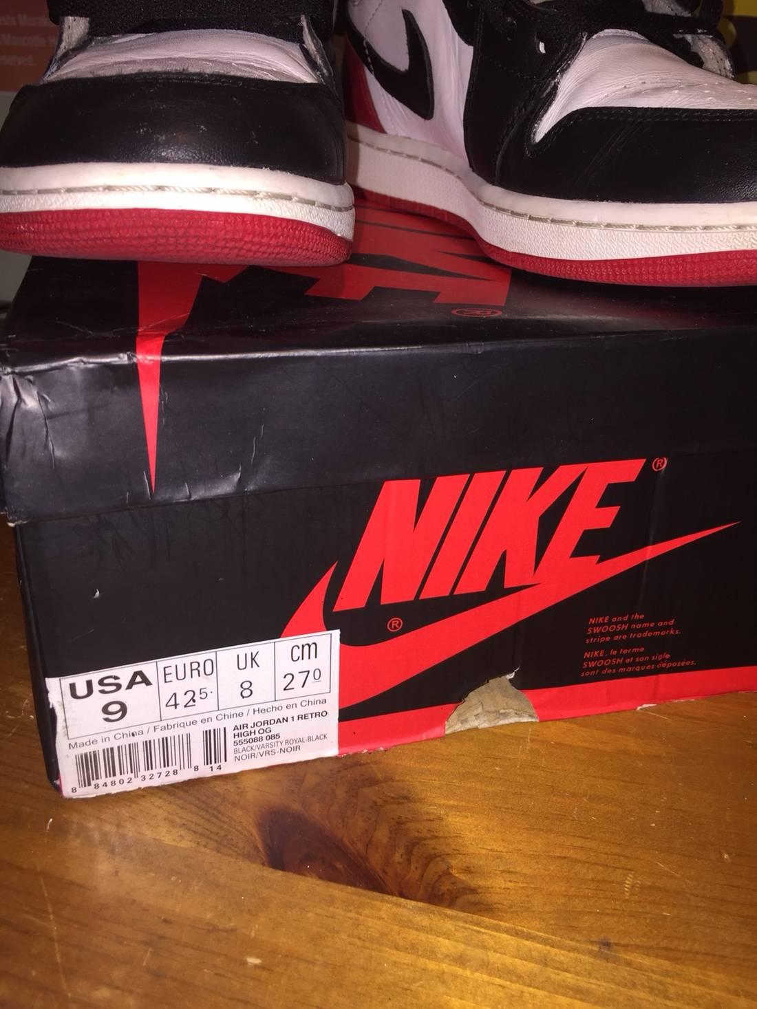 jordan brand air jordan 1 black toe (2013) size us 10  eu 43