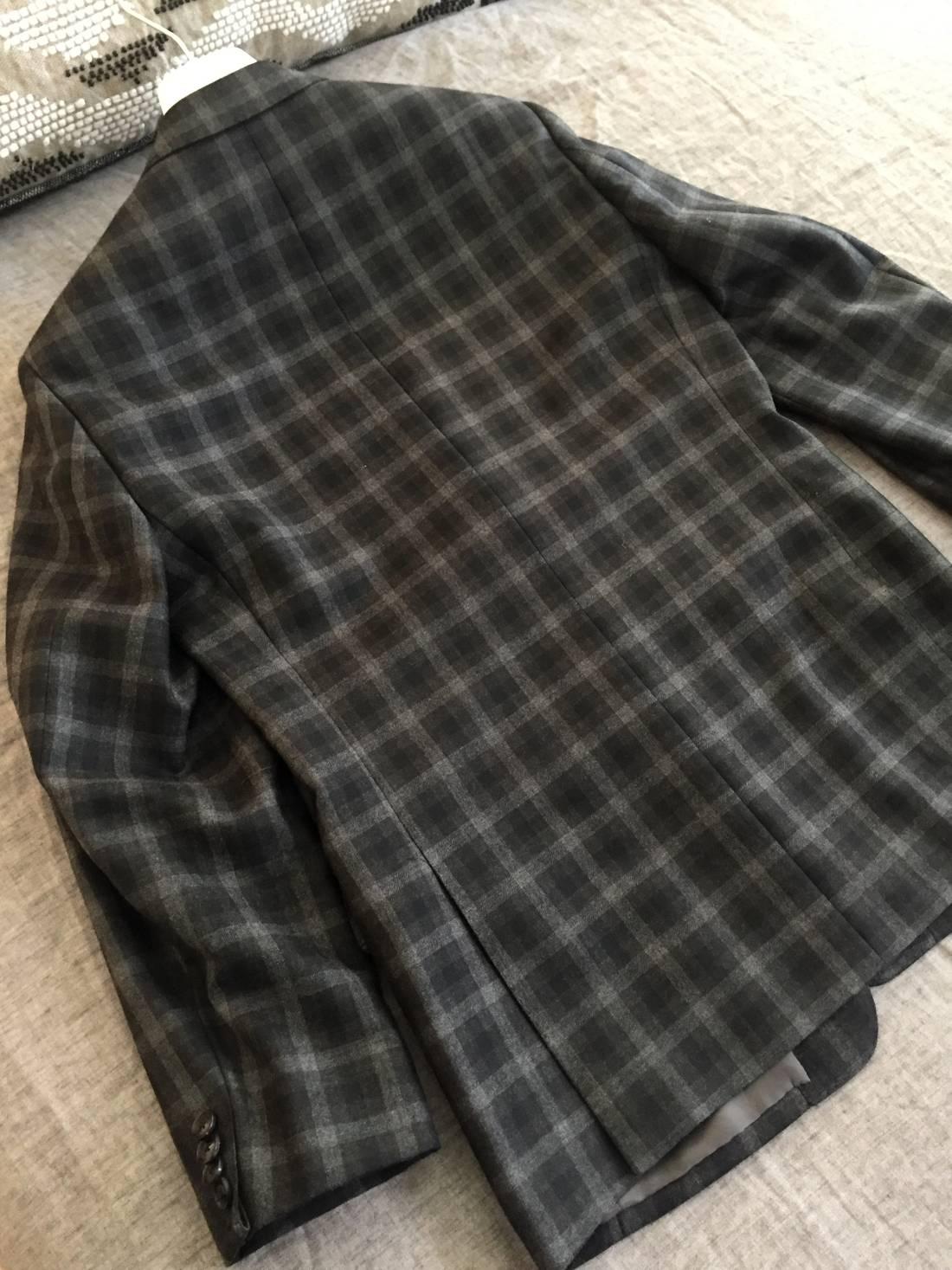Elie Tahari 595 38 Jacket Blazer Sport Coat Tailored Glen Plaid Shirt
