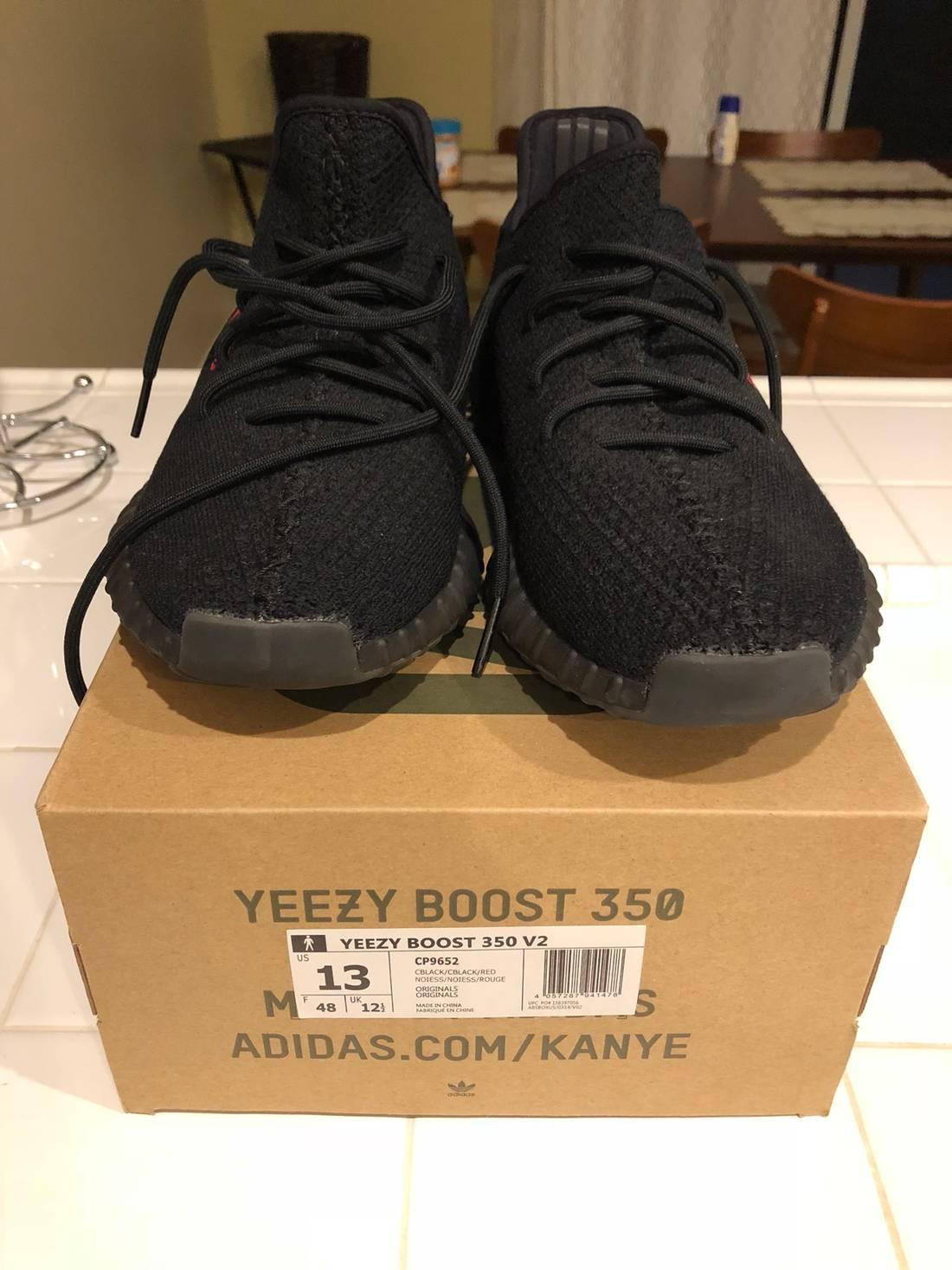 yeezy 350 V2 core black red bred infant 6k