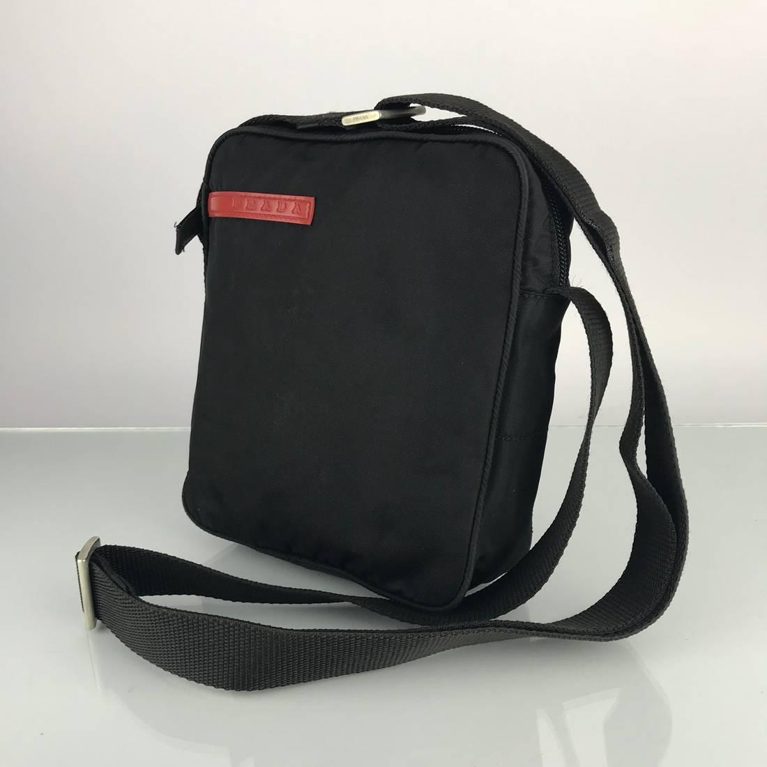7970e45d5b2 ... norway prada authentic prada sport black nylon crossbody bag size one  size 2 6cbb3 be37f ...