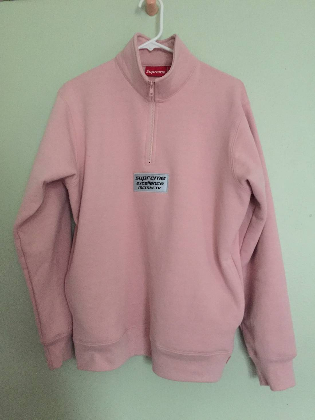Supreme Supreme Excellence Half Zip Sweater Dusty Pink Size m ...