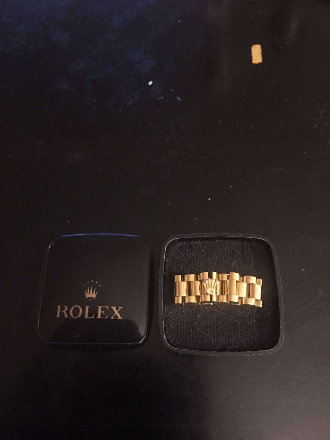 Unbranded link ring with rolex symbol size one size jewelry unbranded link ring with rolex symbol size one size biocorpaavc Choice Image