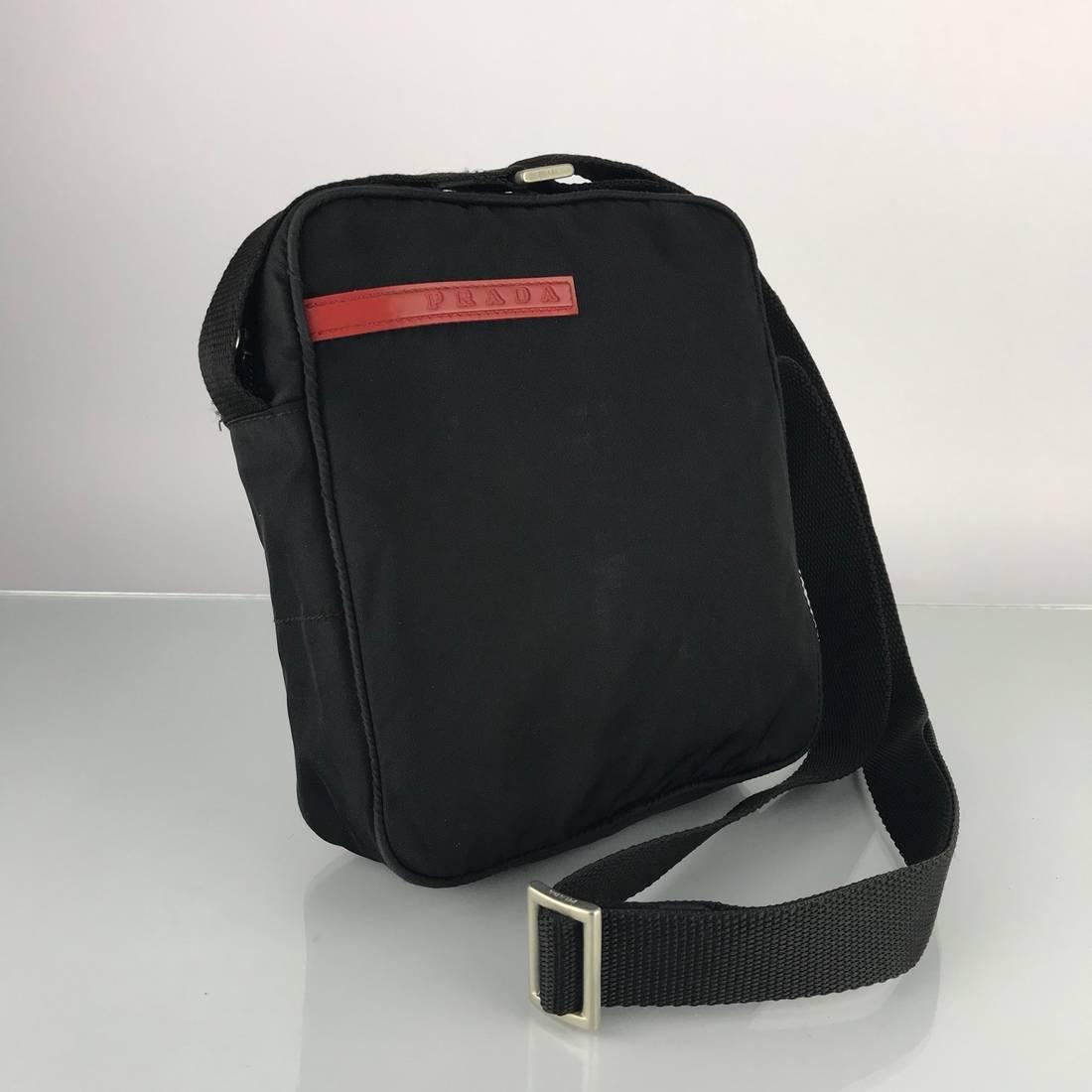 ace6e7b7553 ... low price prada authentic prada sport black nylon crossbody bag size  one size 1 9c951 9c4a4