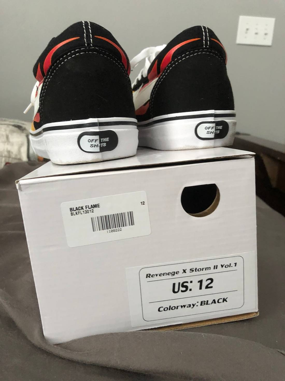 7d2e4384e6c1d7 ... Vans Shoes RED SIZE 8.5  On Feet Shots Of ... Revenge X Storm Revenge X  Storm Black Flame Size ...