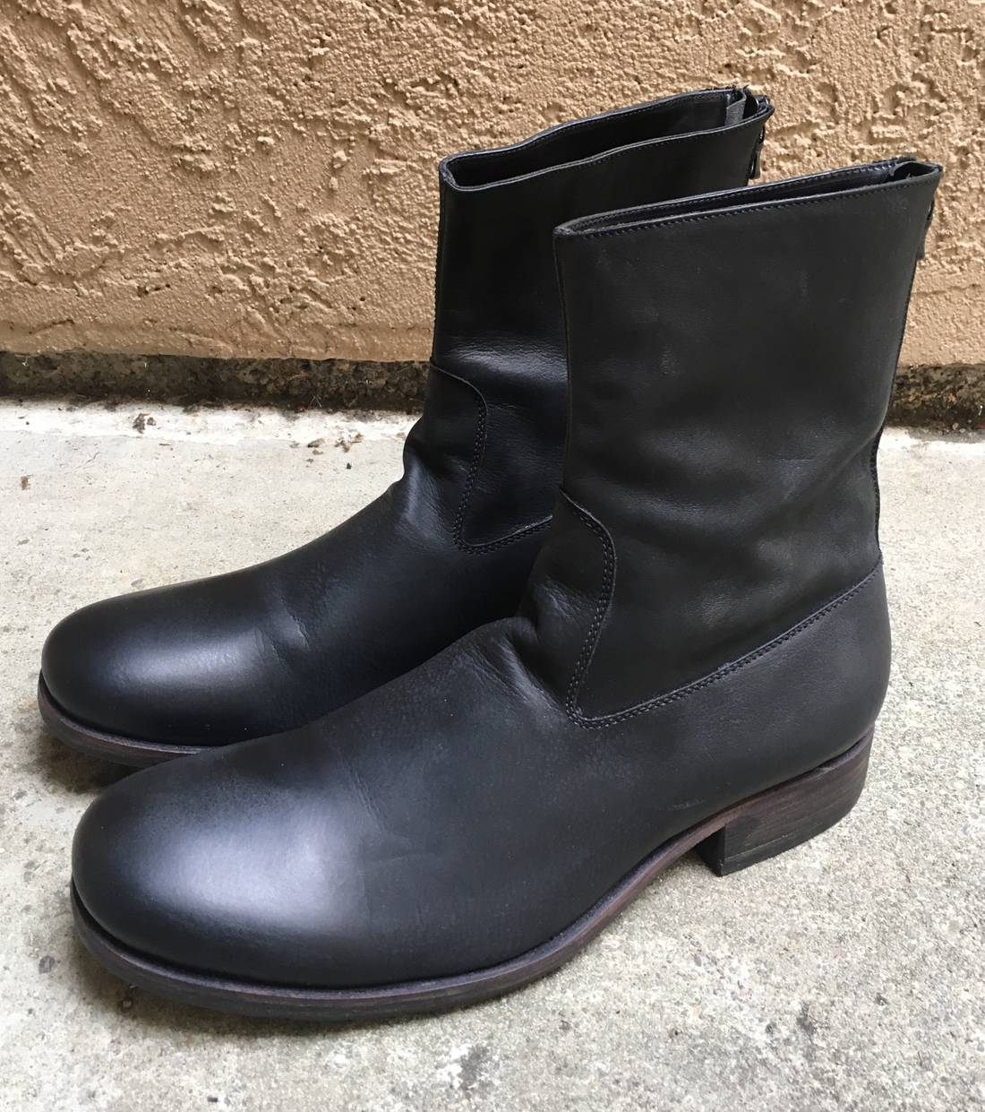 back zip boots - Black C Diem