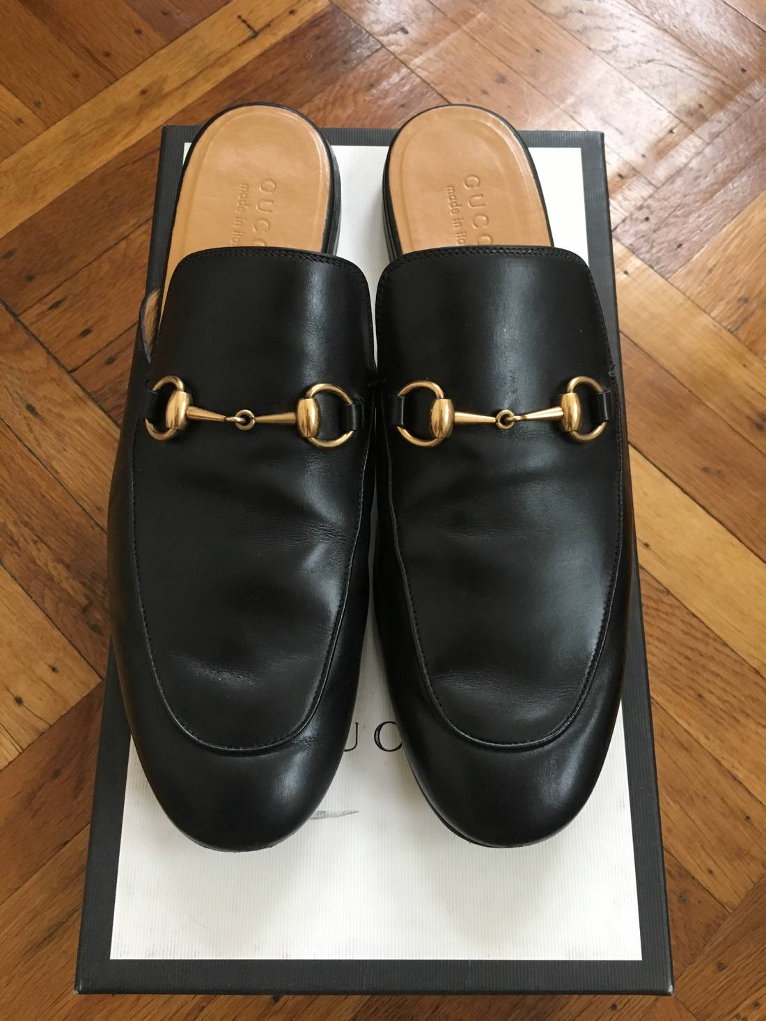 Gucci Leather Horsebit King Slippers