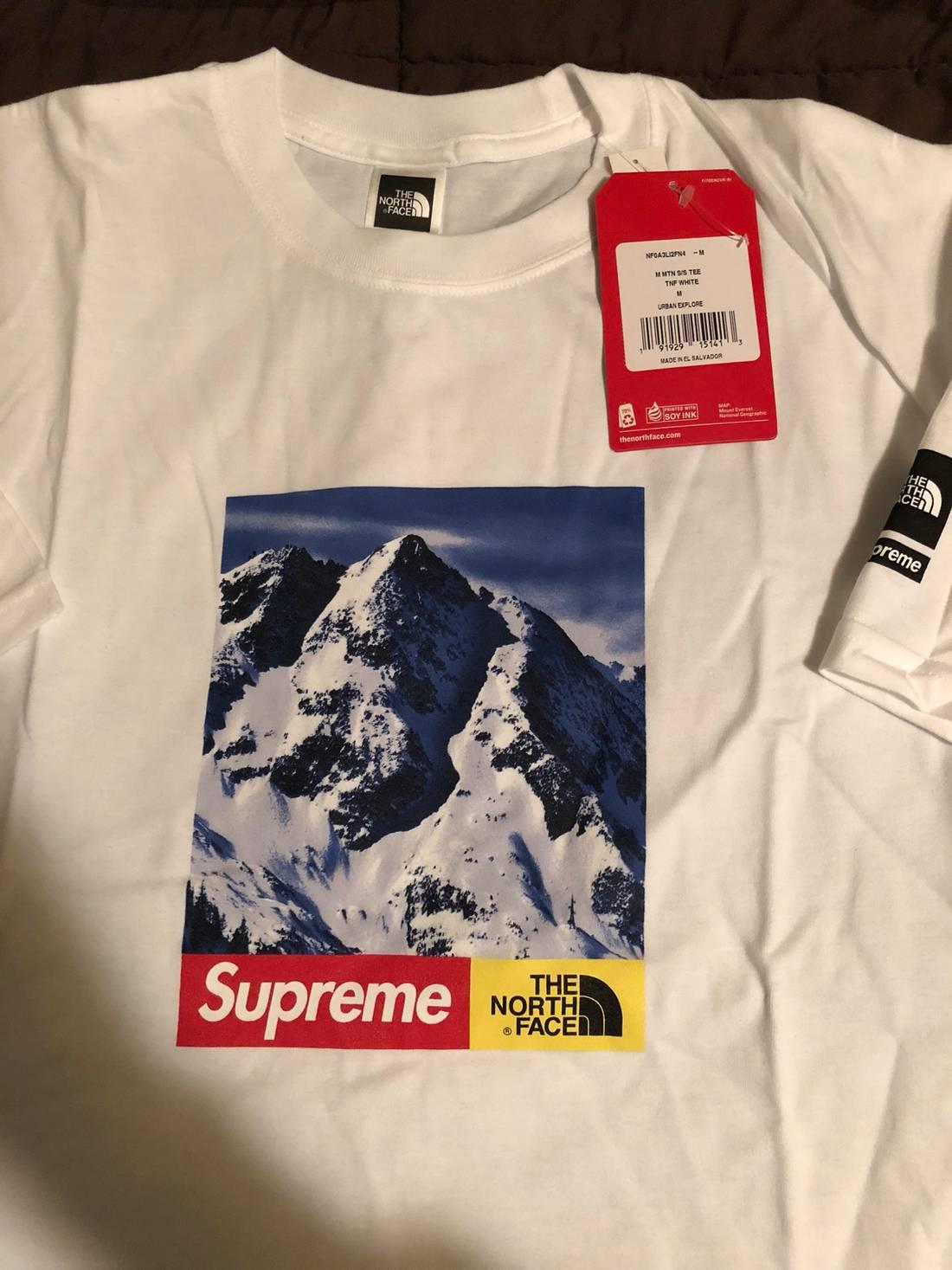 73764e6d Supreme North Face T Shirt Fake
