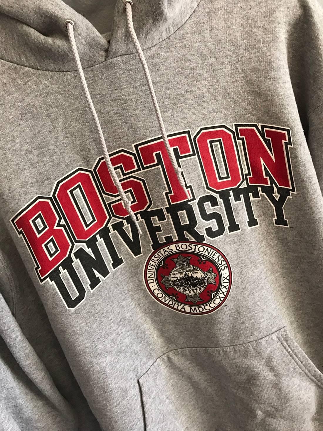 Champion Champion Boston University Hoodie Sweatshirt Size L