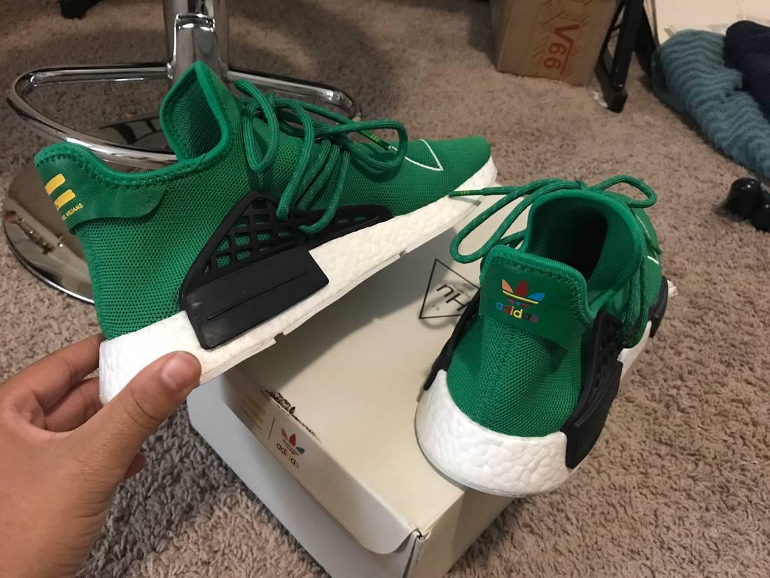 Pharrell x Cheap Adidas NMD Human Race Green BB0620 pksneaker