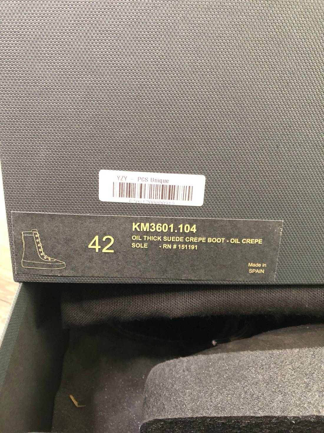 b50656369 yeezy season yeezy crepe boot oil with receipt size us 9 eu 42