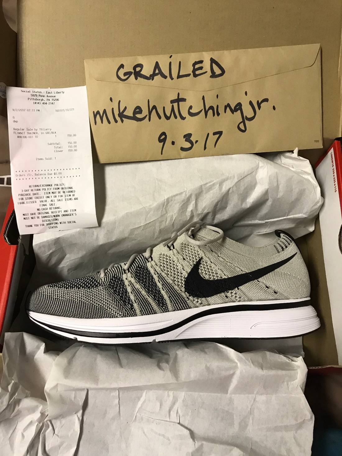 ac3df824a1b3 ... germany nike nike flyknit trainer pale grey size us 10 eu 43 b927a 2ed04