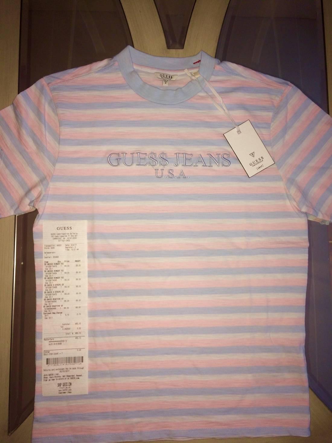 e4d31b843b83 Guess Jeans Usa 1981 Capsule Striped T Shirt Asap Vertical - raveitsafe