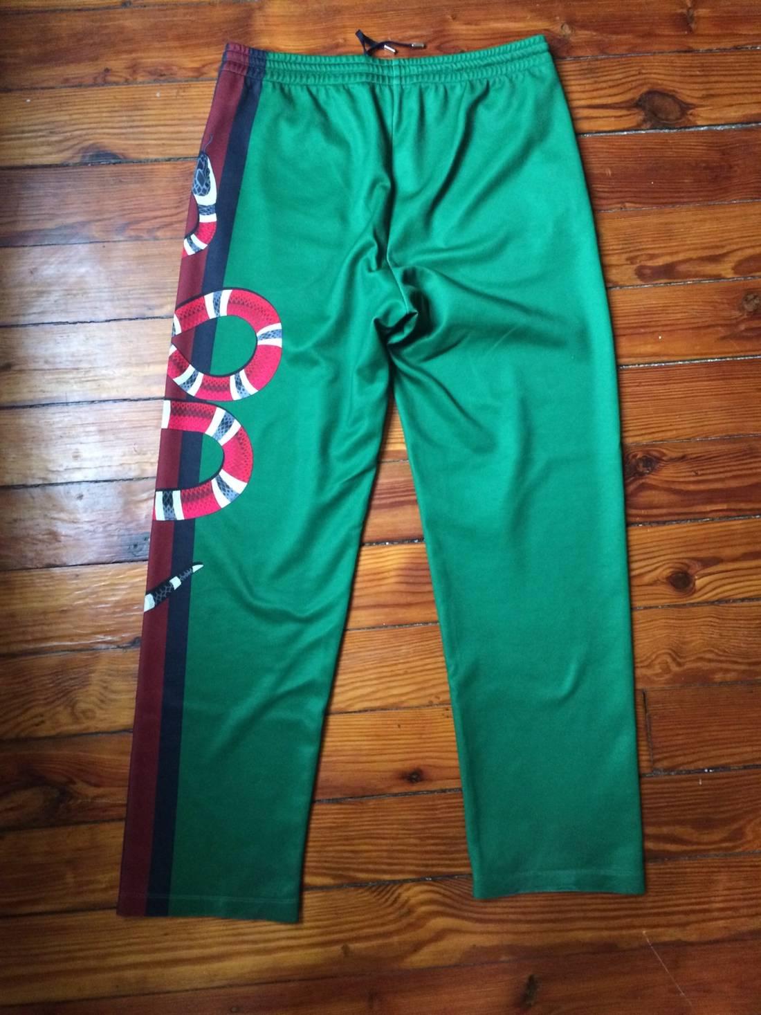 gucci pants. gucci snake track pants size us 31 - 1