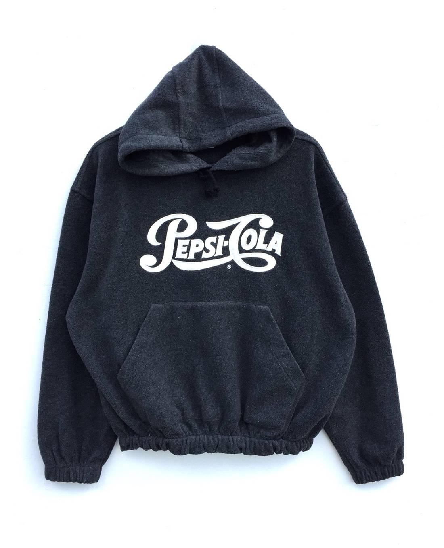 Vintage 90s PEPSI COLA Big Logo Embroidery Hoodie Sweatshirt Pepsi Colaa Jacket