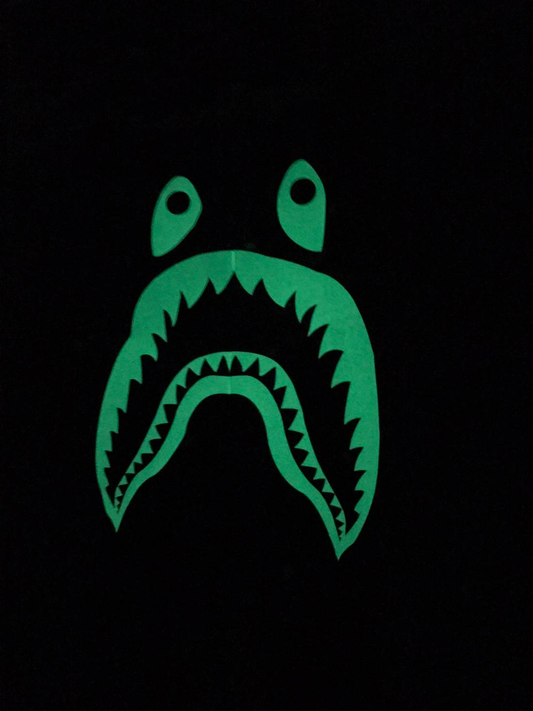 Bape Glow In The Dark Shark Shorts Size Small US 36 EU 52