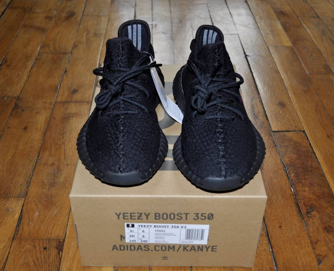 the best attitude 655ae 58788 ... promo code adidas adidas yeezy boost 350 v2 bred black red cp9652 size  65 us 6
